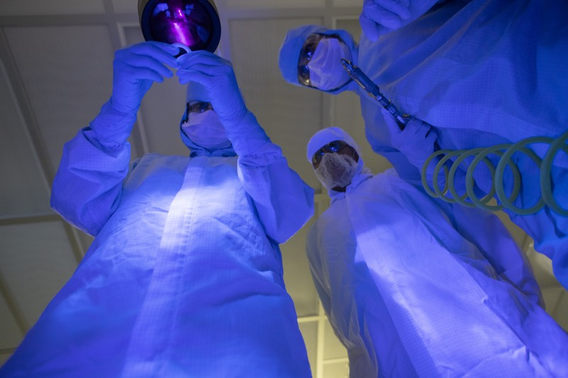 Astro Pak Employees working in Cleanroom