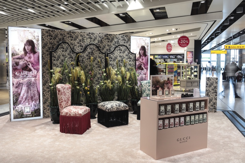 cc44dc8e2 Coty launches Gucci Bloom Nettare di Fiori airport pop-ups