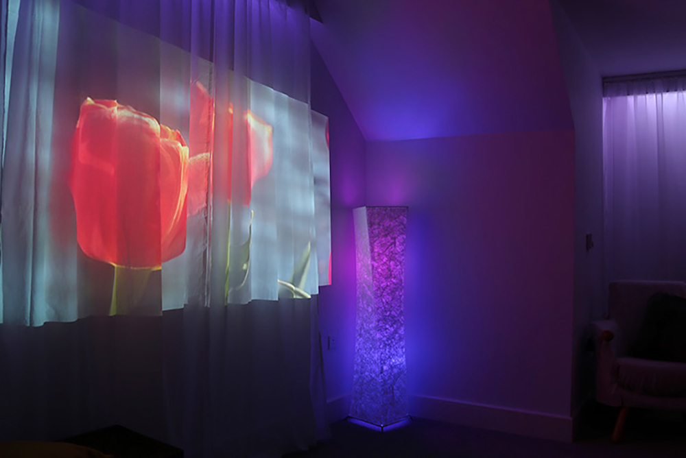 picture of A new sensory room has opened at Coombe Hill Manor care home in Kingston, designed especially for people with dementia