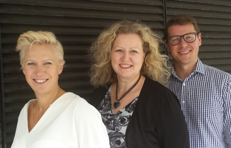 picture of The FM Central team: Sarah Bentley, Karen Moule and Gavin Deane