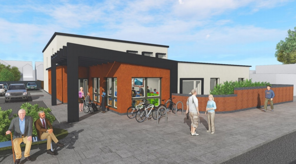 Foleshill GP Surgery - exterior planning render ©The Tooley & Foster Partnership LLP