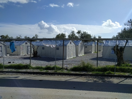 picture of Refugee camp on Lesbos
