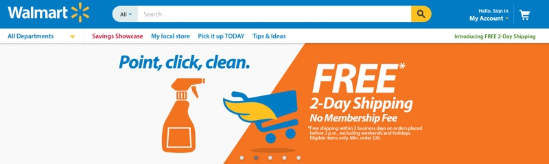 Walmart launches free two day shipping service in US
