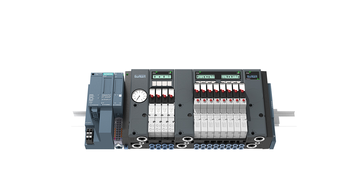 Bürkert Pneumatic Control Valve Island interfaces directly with ...