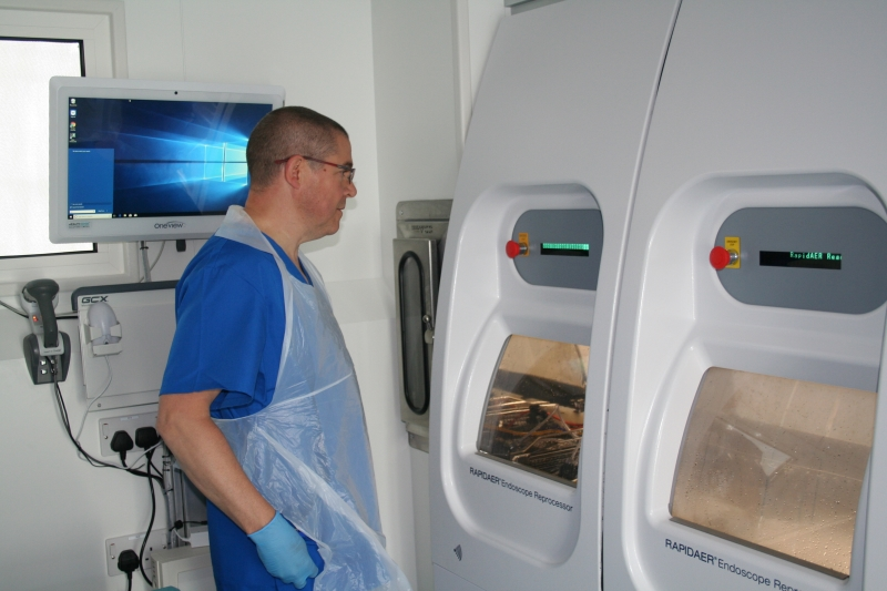 Vanguard mobile endoscopy decontamination facility