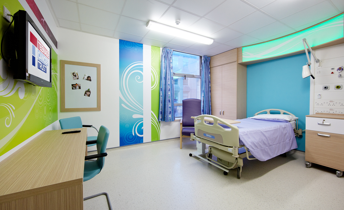 Grosvenor Interiors Teenage Cancer Trust Unit Leicester Royal Infirmary