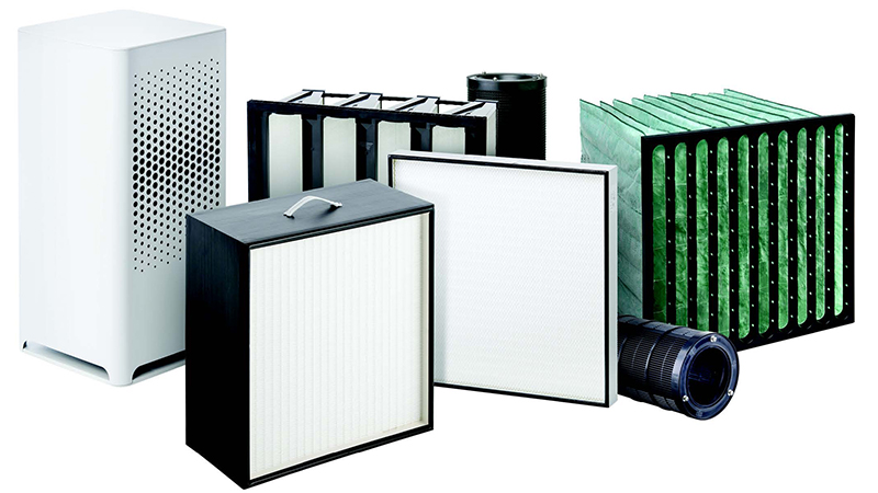 Air filtration to the test