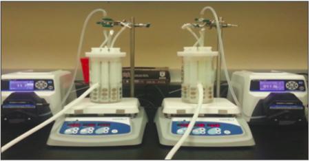 picture of CDC reactor with P. aeruginosa generates standardised biofilm for testing