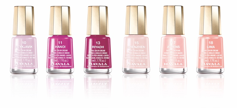 Swiss cosmetics brand Mavala unveils blush nail polishes