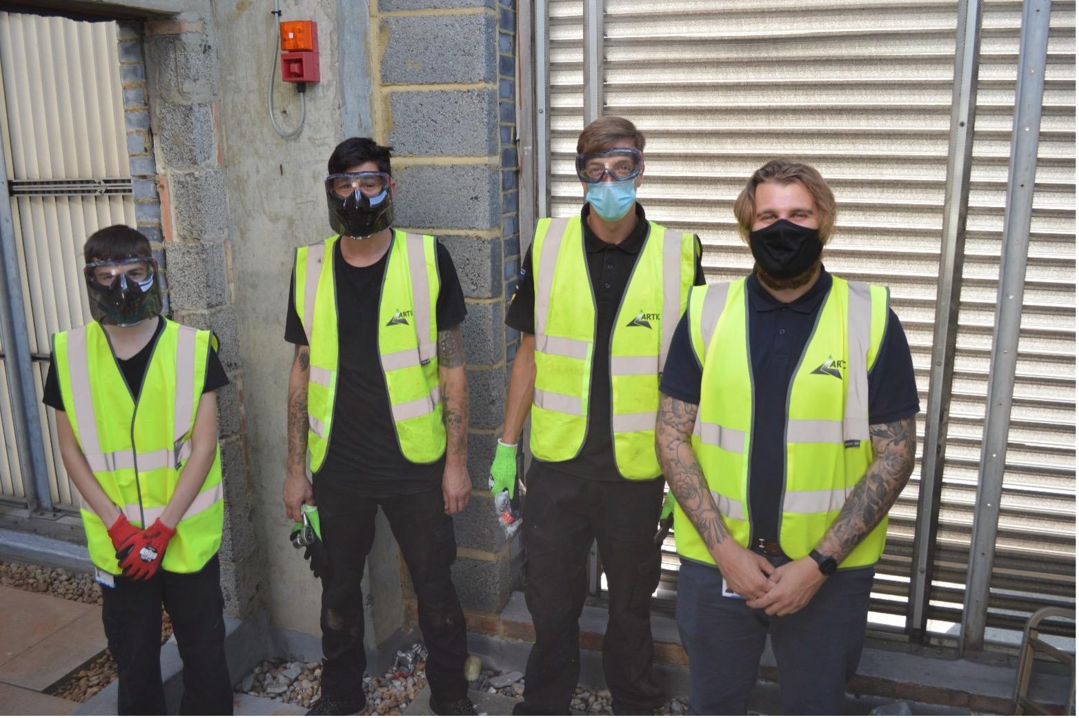 Engineer team in PPE